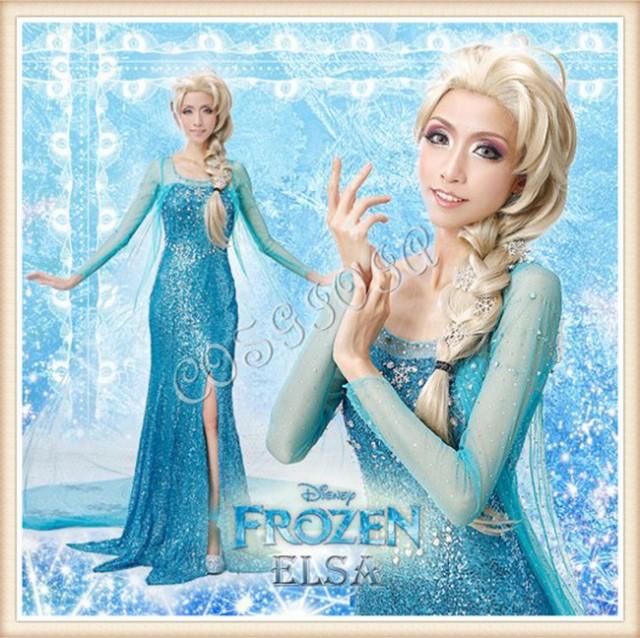 アナと雪の女王 Elsa Anna エルサ ドレス コスプ...