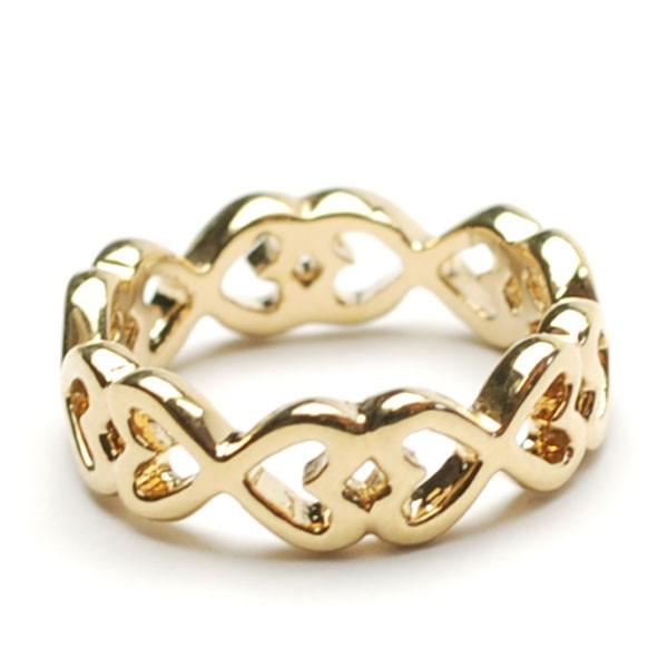 ハート ピンキーリング 3号 ゴールドカラー 指輪 ...