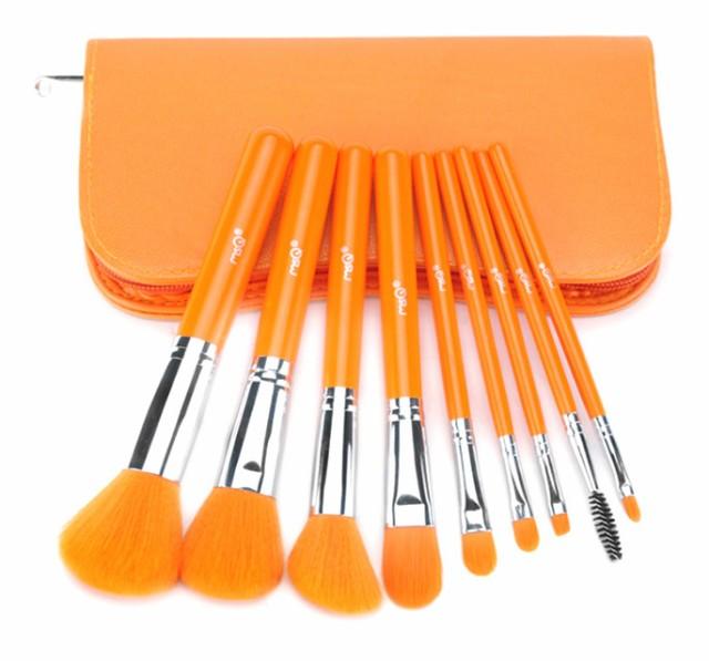9本タクロンメイクブラシセット、化粧筆セット、...