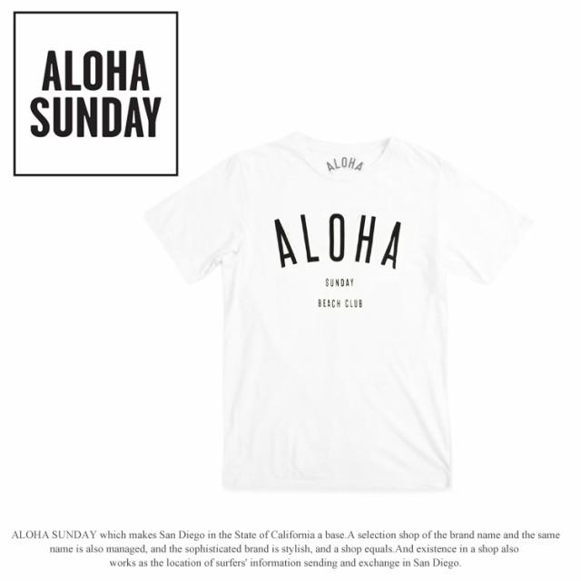 ALOHA SUNDAY アロハサンデー Tシャツ 半袖 メン...