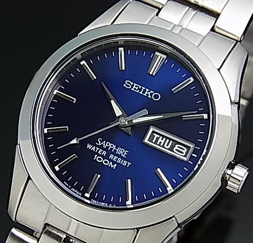 SEIKO【セイコー/クォーツ】 メンズ腕時計 メタル...
