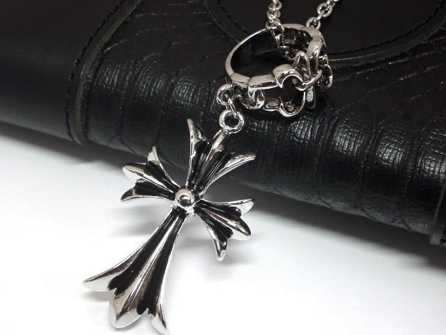 クロス&フレアリングのネックレス 十字架 百合 【...