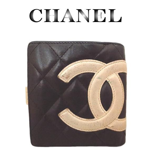 CHANEL シャネル カンボン がま口財布