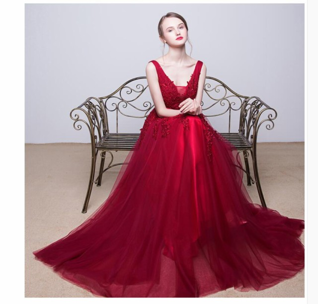 ドレス ウェディングドレス ロングドレス 演奏会 ...