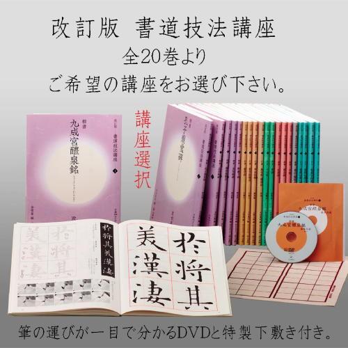 801688s 改訂版 書道技法講座 全20巻 二玄社 ...