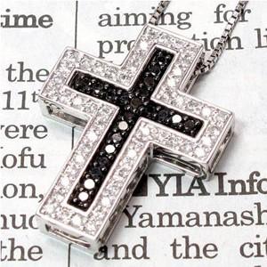 クロス 十字架 ダイヤモンド ブラックダイヤモン...