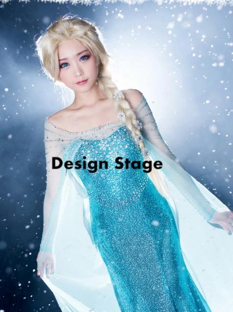 高品質!ディズニー アナと雪の女王風 Elsa エル...