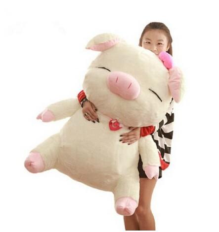 ブタ ぬいぐるみ 特大 豚 60cm 大きいぶた/抱き枕...
