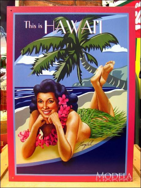 アメリカンブリキ看板 ハワイ SURF SHACK