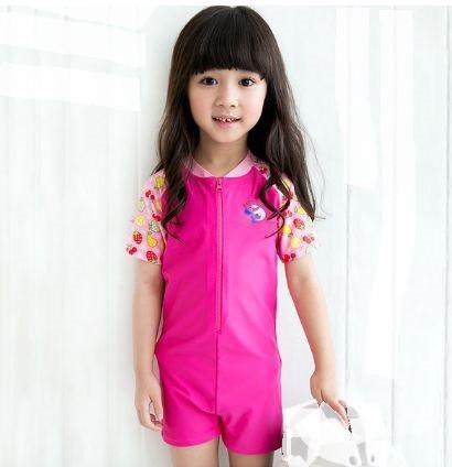 最新 女の子 子供 ファッション 一体型 水着 80...