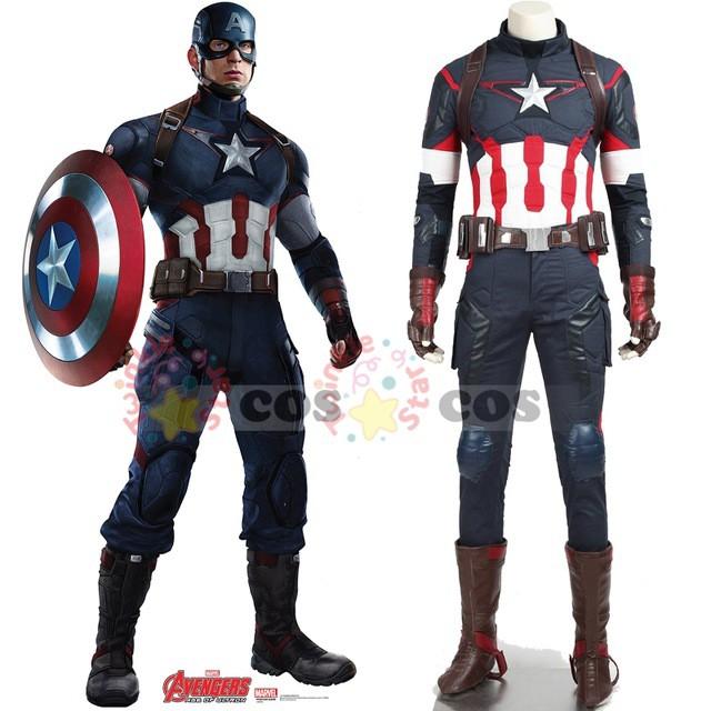 高品質 高級コスプレ衣装 キャプテン アメリカ 風...