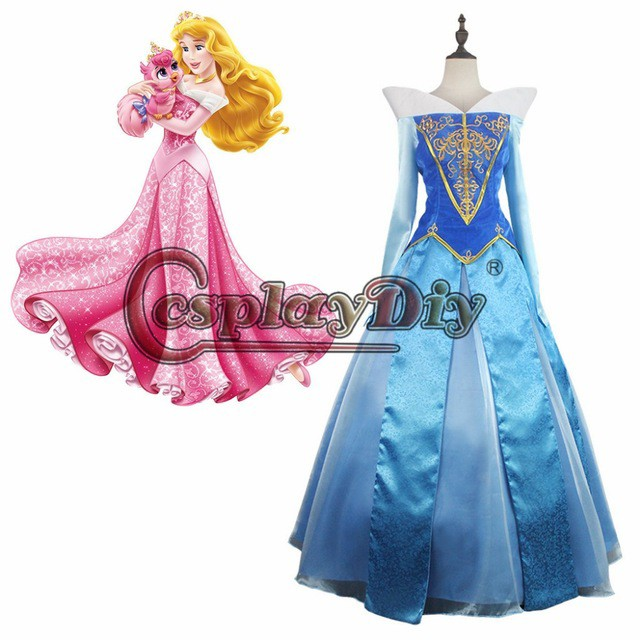 b2bc63696306a 高品質 高級コスプレ衣装 眠れる森の美女 風 オーロラ姫 タイプ オーダーメイド ドレス