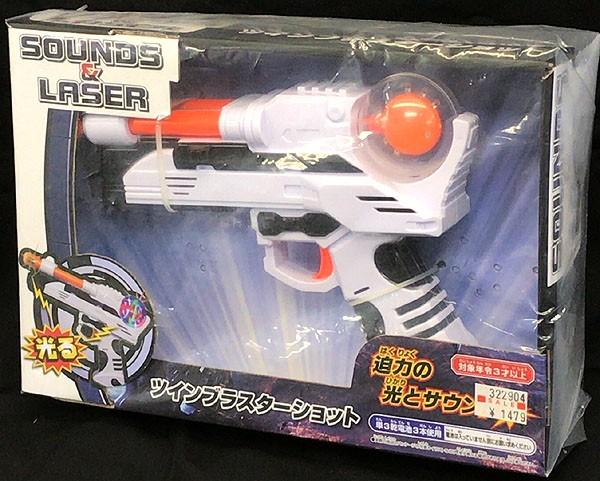 光る★迫力の光とサウンド 銃【ツインブラスター...
