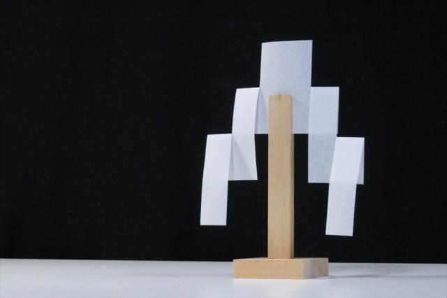 御幣 木曽ひのき製 小サイズ ■ 紙垂付 ■ 神具 ...