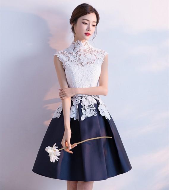 可愛い結婚式ドレス  花嫁 パーティドレス フレア...