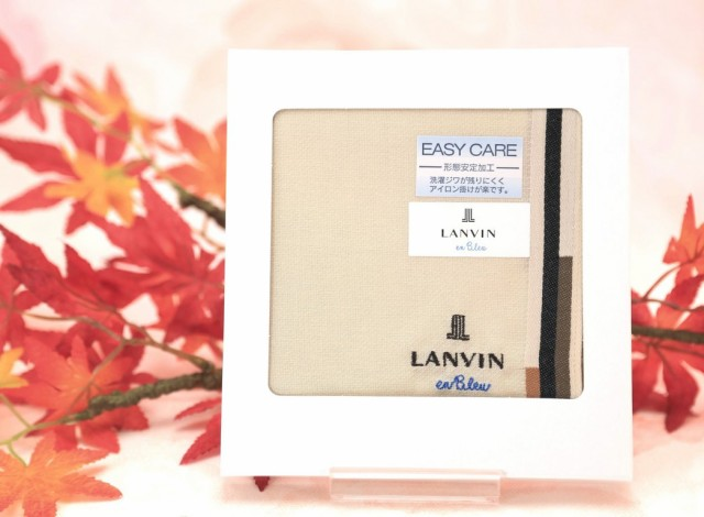 """【メール便164円】""""LANVIN""""ランバン綿大判ハン..."""
