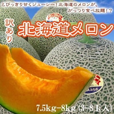 赤肉メロン 訳あり 北海道産 7.5kg-8kg 送料無料 ...
