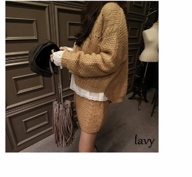 lavy 即納 ワンピース セーター ミニスカート&nbs...