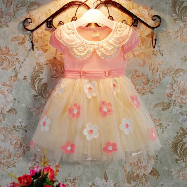 ピンク 100-140CM 子供ドレス キッズドレス ワ...