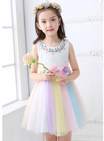 子供ドレス 女の子ウエディングドレス礼服キッズ...