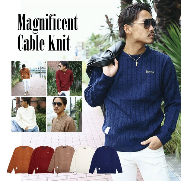 DOWBL/ ダブル/ Magnificent Cable Knit 【全5色...