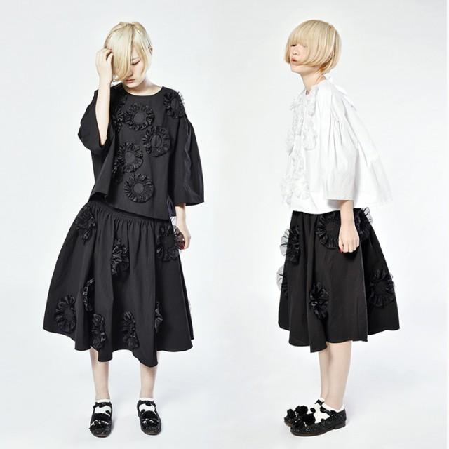 imakokoni スーツ ブラック ホワイト 可愛い...