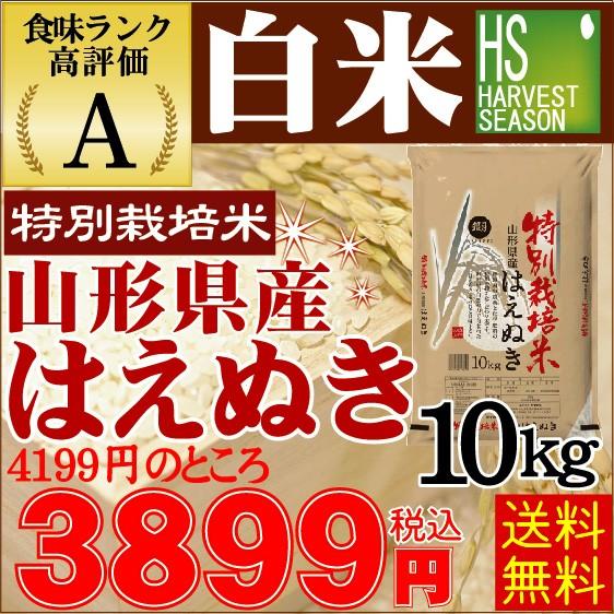【送料無料】 28年産白米山形はえぬき10kg(5kg×2...