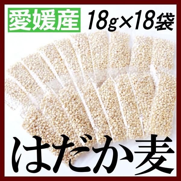 はだか麦 国産 小分け 愛媛県産 18g×18袋×3セッ...