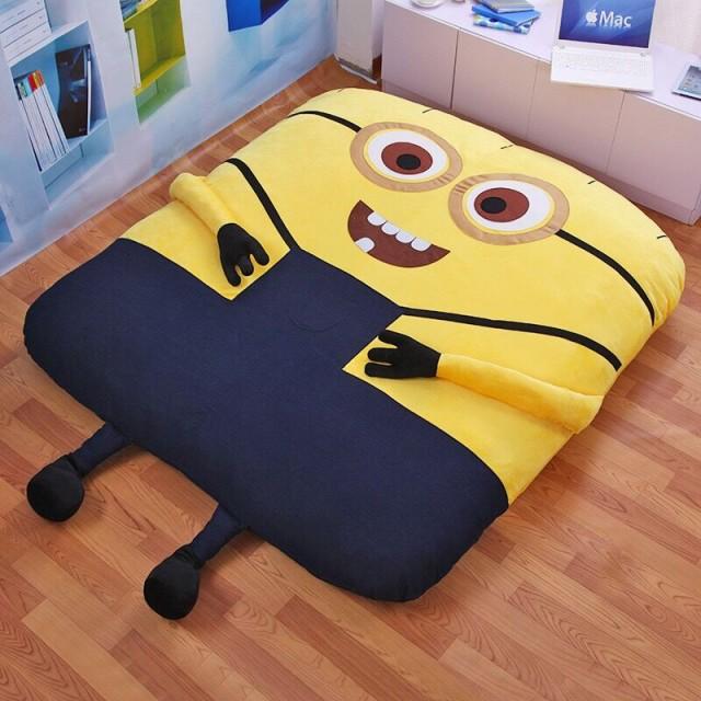 人気 畳ベッド 可愛い ミニオン 高品質 折りたたみベッド 柔かい ヘッドレス ソファー (シングル)
