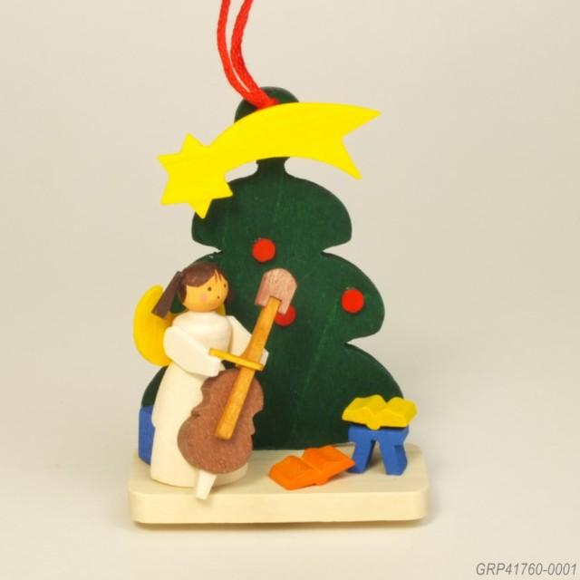 天使とツリー、チェロ
