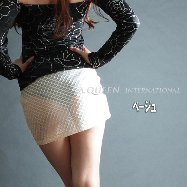 シフォンメッシュスカート7279bs/G