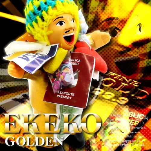 全身が金に輝く幸せを呼ぶ人形!!【エケコ人形 Go...
