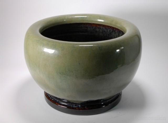 オリベ手作り火鉢 15号(信楽焼・陶器・暖房・火...