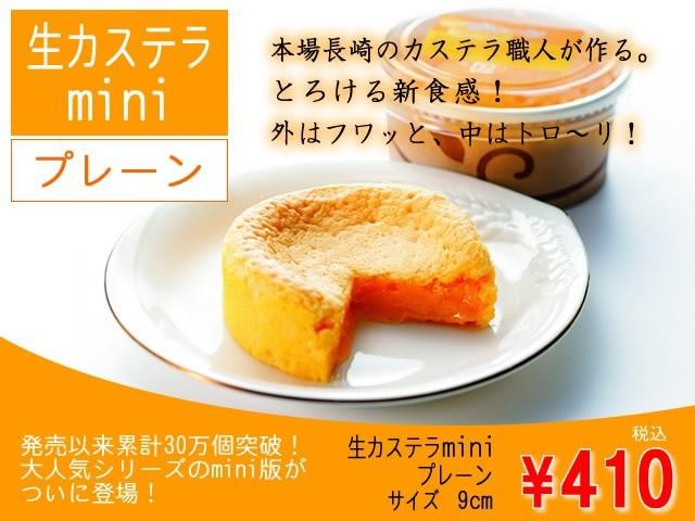 生カステラmini(プレーン)3個セット