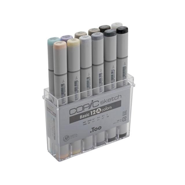 コピックスケッチ ベーシック12色セットA