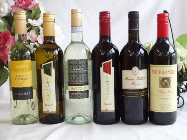 イタリア赤白ワイン6本セット ミケランジェロ赤・...