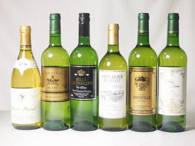 【特選】高品質ワイン6本福袋(白6本)750ml×6本...
