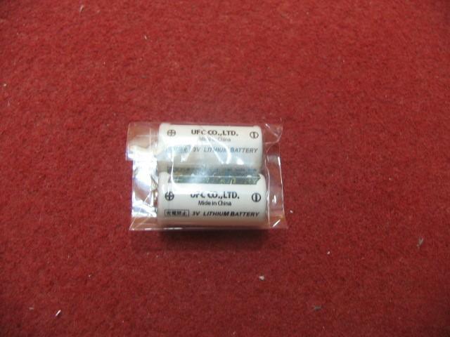 CR123Aリチウムバッテリー2個セット【op110】