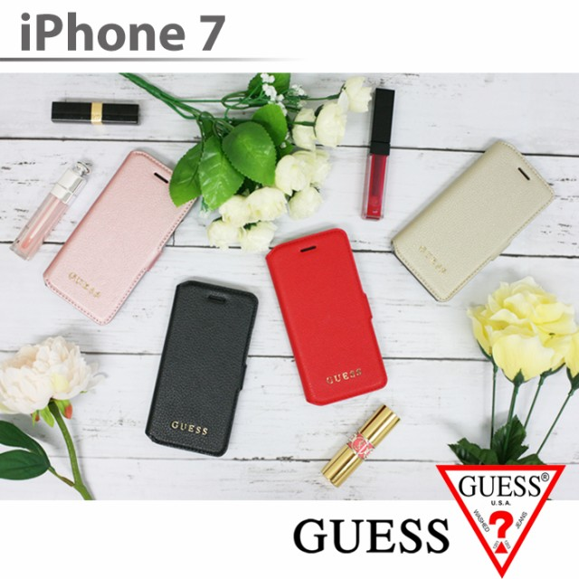 GUESS・公式ライセンス品 iPhone7ケース 手帳型 ...