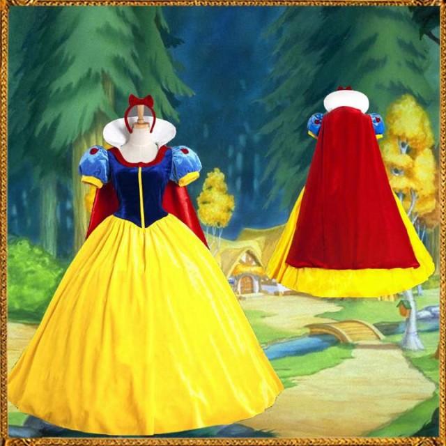 白雪姫衣装/白雪姫 ドレス/白雪姫 コスプレ/ハロ...