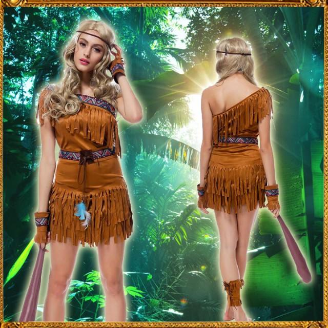 民族衣装/ハロウィン 仮装/民族衣装/インディアン...