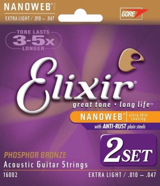 2個セット Elixir エリクサー アコースティックギ...