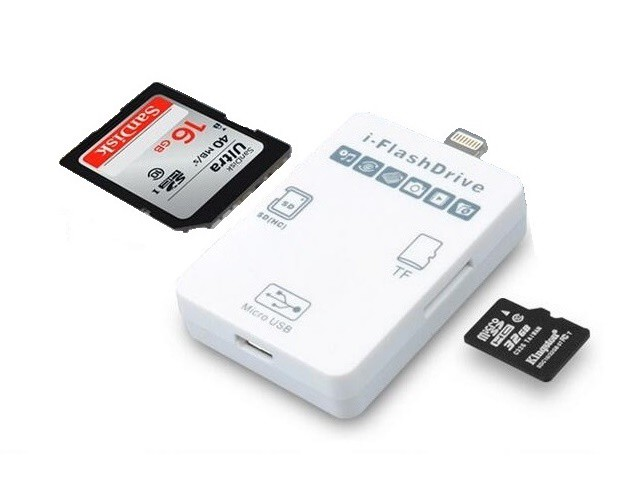 i-EasyDrive 2in1 8P&Micro USB Fe to  SD/TF(Mic...