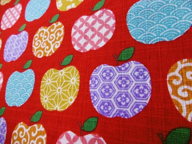 和柄なリンゴ 【ドビー生地】