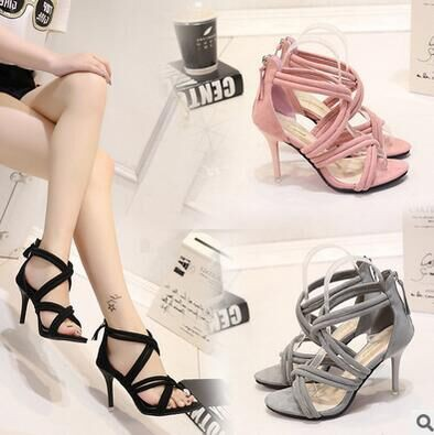 クロスベルト美脚サンダル/靴全3色 v-ali-421
