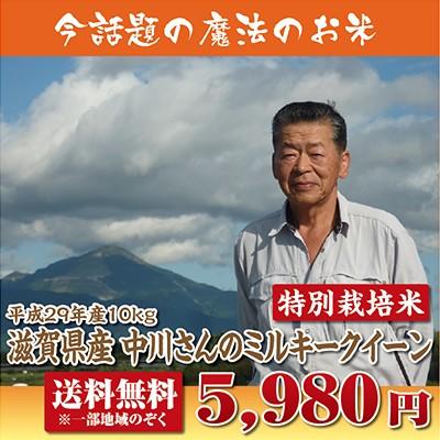 【29年産新米】滋賀県産中川さんのミルキークイー...
