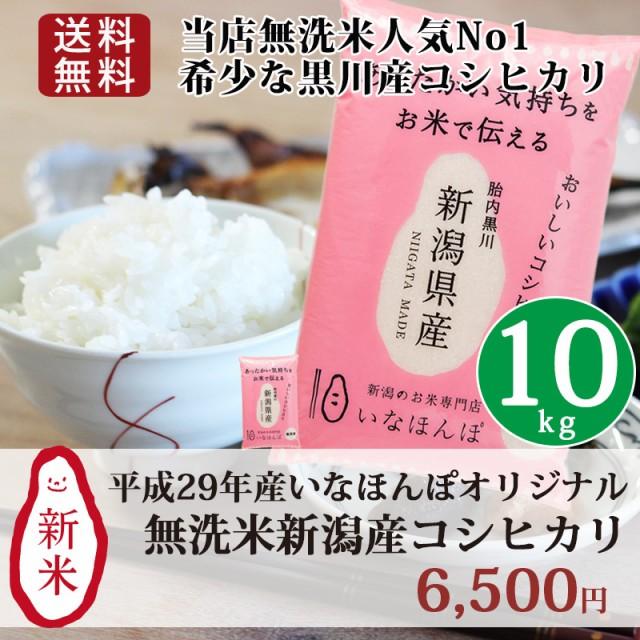 米 お米 10kg(5kg×2) 無洗米 新潟 新潟産 29年産...