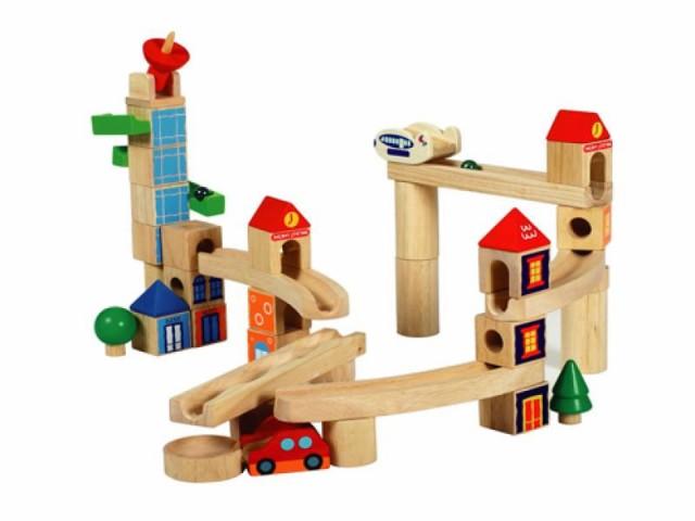 【送料無料】 木製玩具 シティブロック