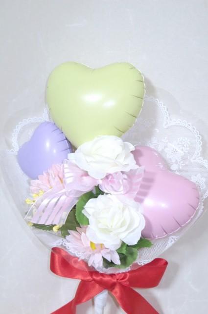 ハートパステルカラーの優しいブーケ 【送料無料...