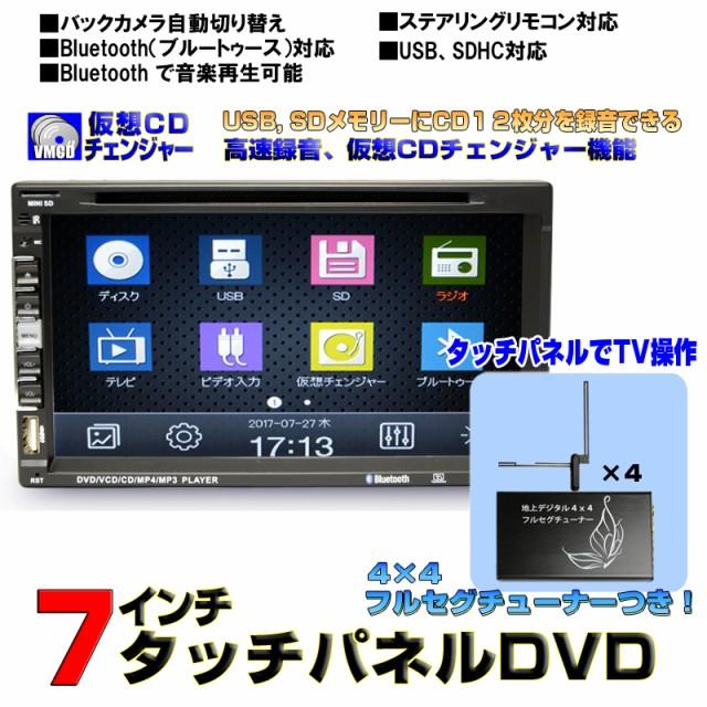 車用 dvd 7インチDVDプレーヤー CD12連装仮想チ...